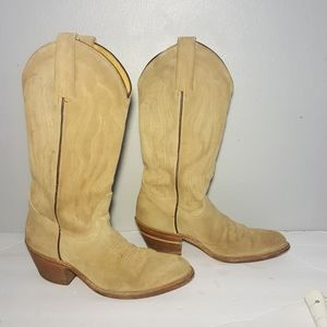 Frye suede leather cowgirl boots size 7